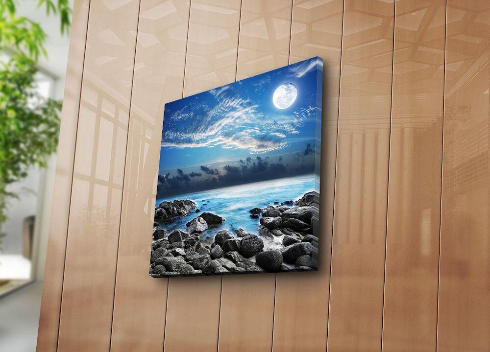 Tablou decorativ pe panza Bonanza, 242BNZ1207, 45 x 45 cm, panza