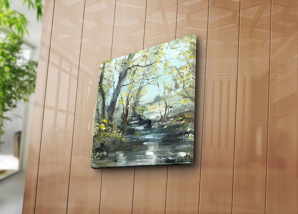 Tablou decorativ pe panza Bonanza, 242BNZ1272, 45 x 45 cm, panza