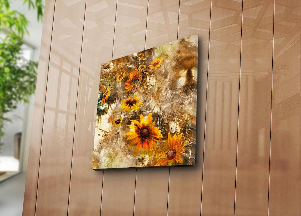 Tablou decorativ pe panza Bonanza, 242BNZ1276, 45 x 45 cm, panza