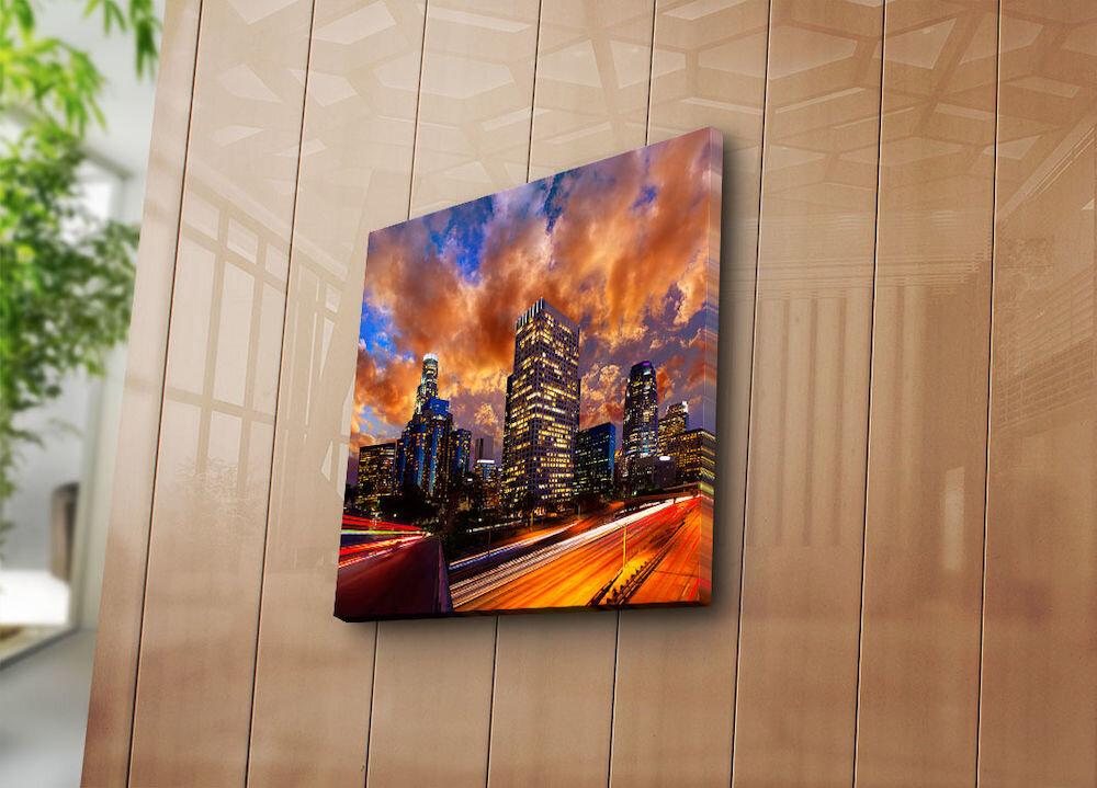 Tablou decorativ pe panza Bonanza, 242BNZ1277, 45 x 45 cm, panza