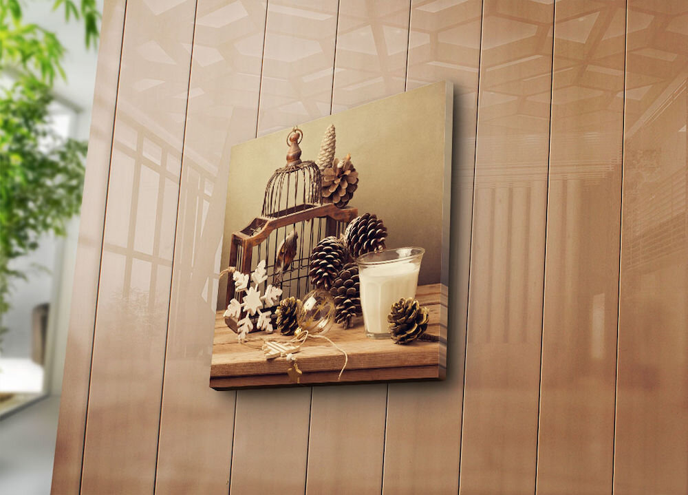 Tablou decorativ pe panza Bonanza, 242BNZ1278, 45 x 45 cm, panza