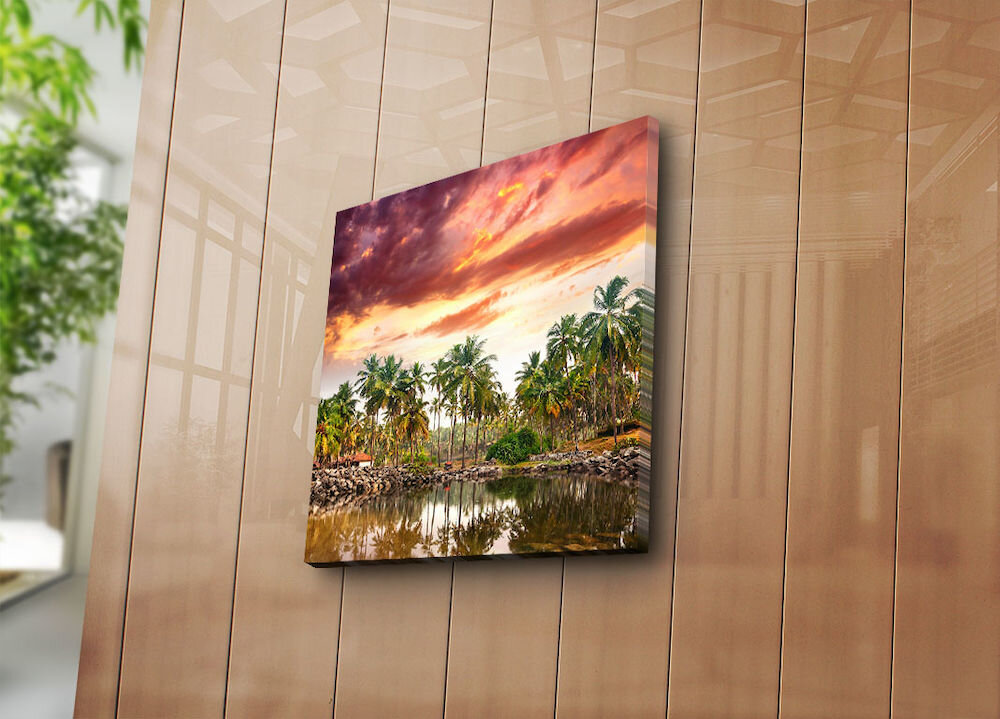 Tablou decorativ pe panza Bonanza, 242BNZ1208, 45 x 45 cm, panza