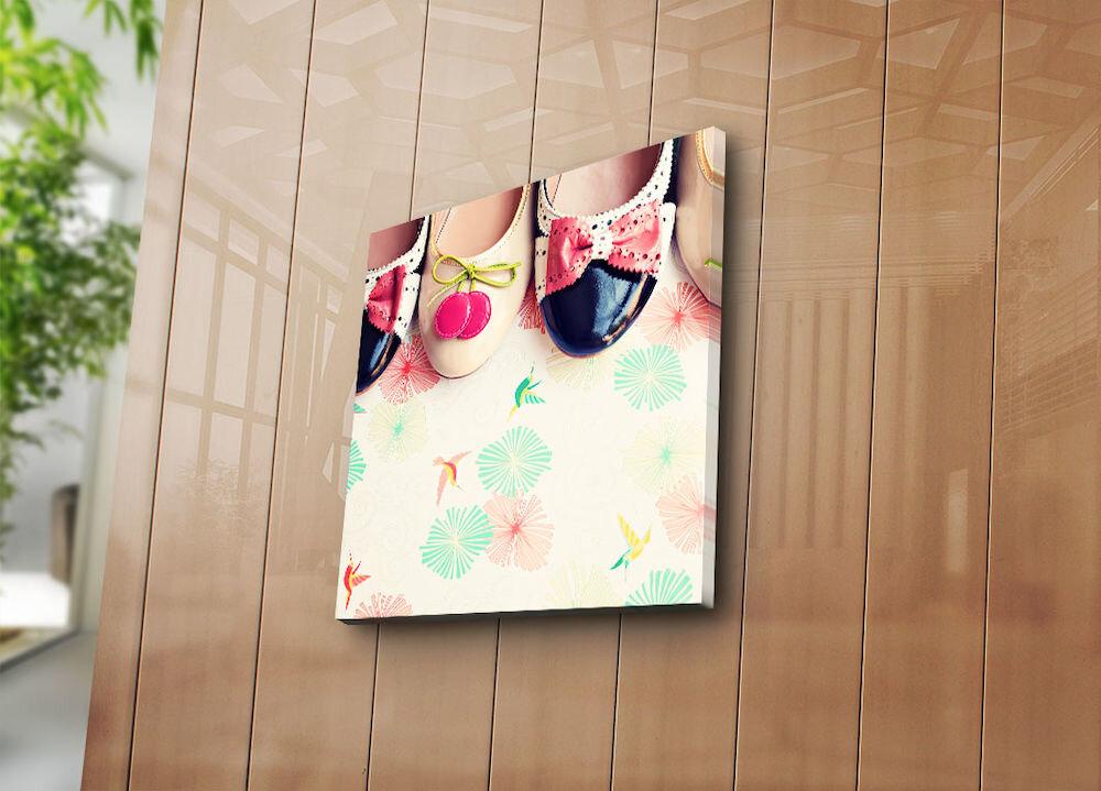 Tablou decorativ pe panza Bonanza, 242BNZ1282, 45 x 45 cm, panza
