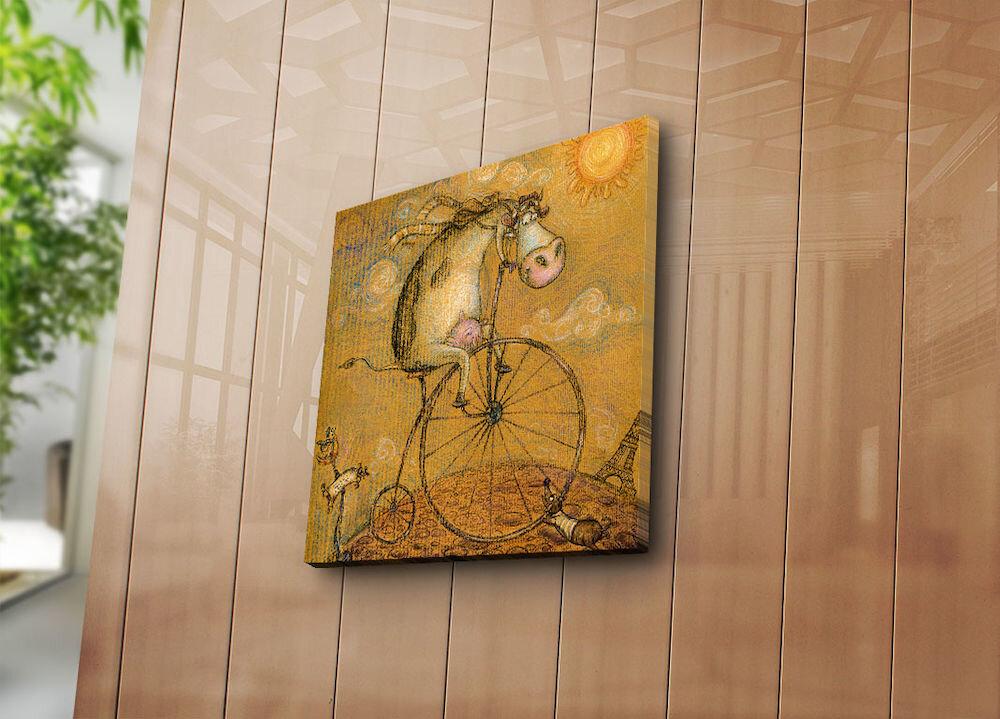 Tablou decorativ pe panza Bonanza, 242BNZ1284, 45 x 45 cm, panza