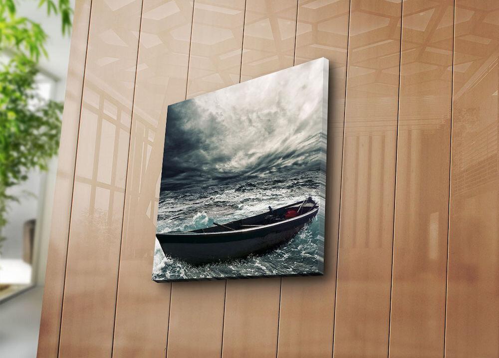 Tablou decorativ pe panza Bonanza, 242BNZ1209, 45 x 45 cm, panza