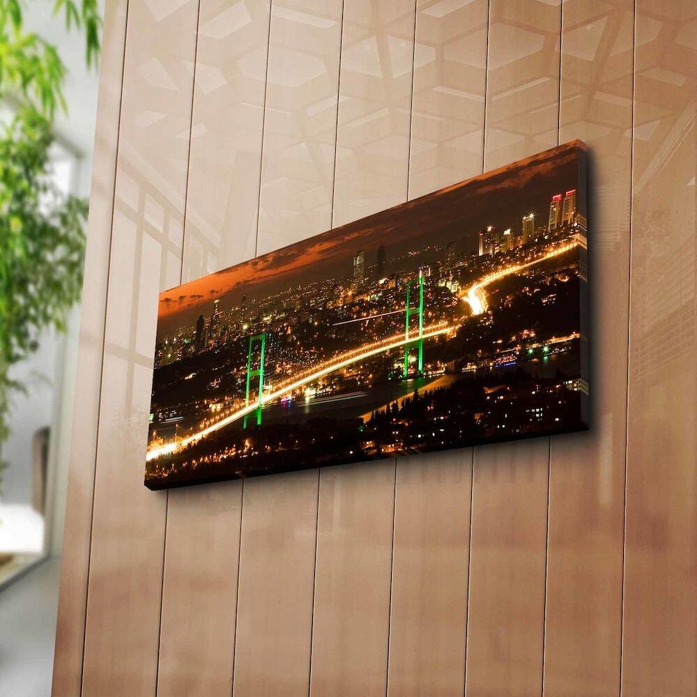 Tablou decorativ pe panza Horizon, 237HRZ1215, 30 x 70 cm, panza