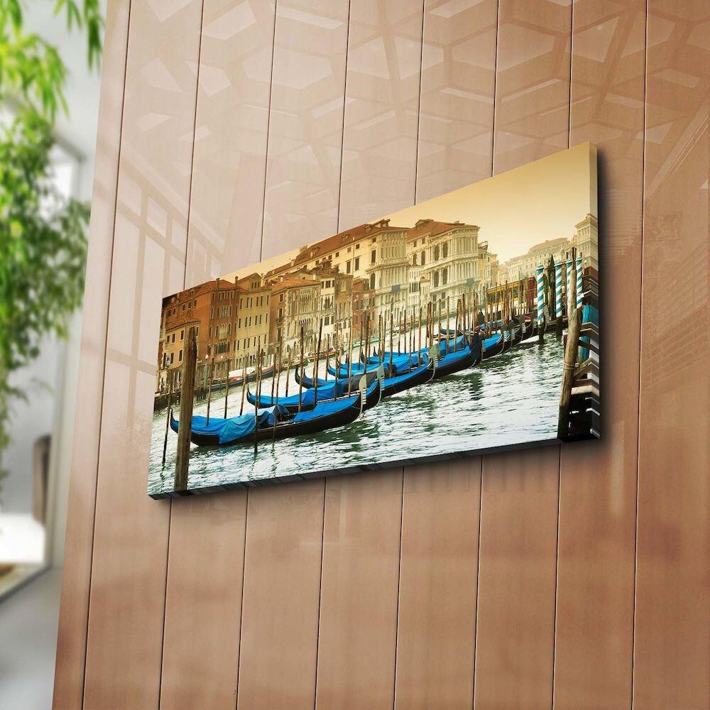 Tablou decorativ pe panza Horizon, 237HRZ1216, 30 x 70 cm, panza