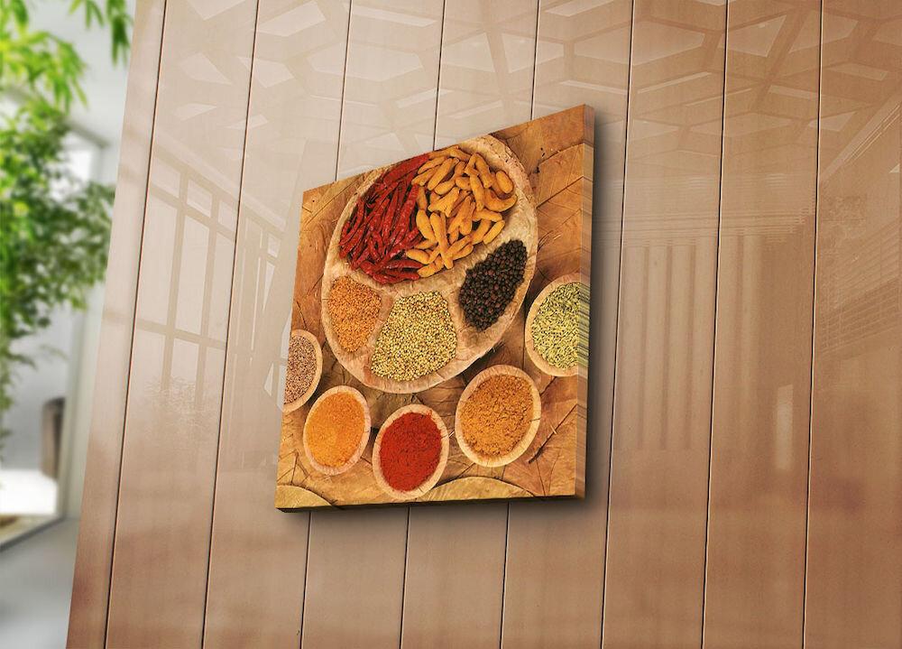 Tablou decorativ pe panza Horizon, 237HRZ5304, 45 x 45 cm, panza