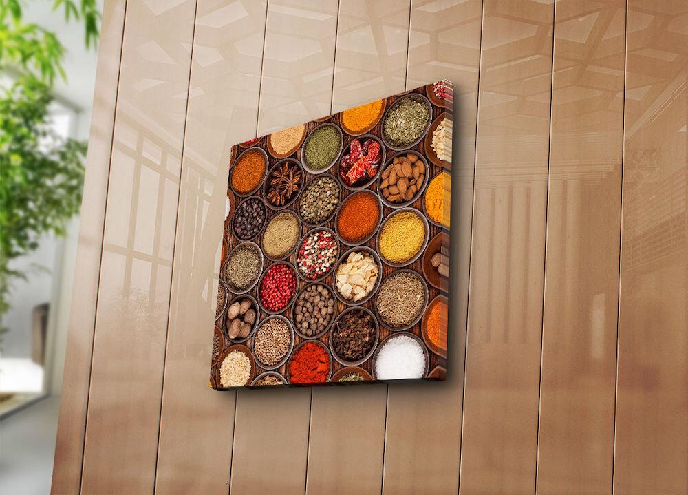 Tablou decorativ pe panza Horizon, 237HRZ5306, 45 x 45 cm, panza
