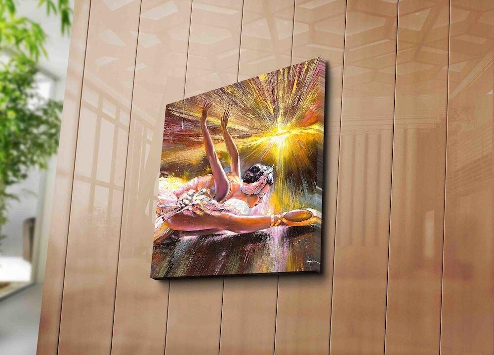 Tablou decorativ pe panza Horizon, 237HRZ1225, 45 x 45 cm, panza