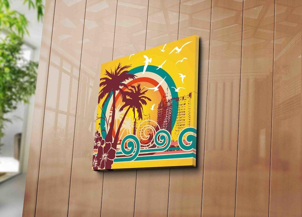 Tablou decorativ pe panza Horizon, 237HRZ1226, 45 x 45 cm, panza