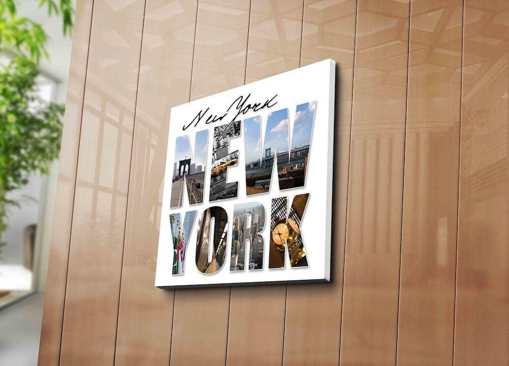 Tablou decorativ pe panza Horizon, 237HRZ1230, 45 x 45 cm, panza