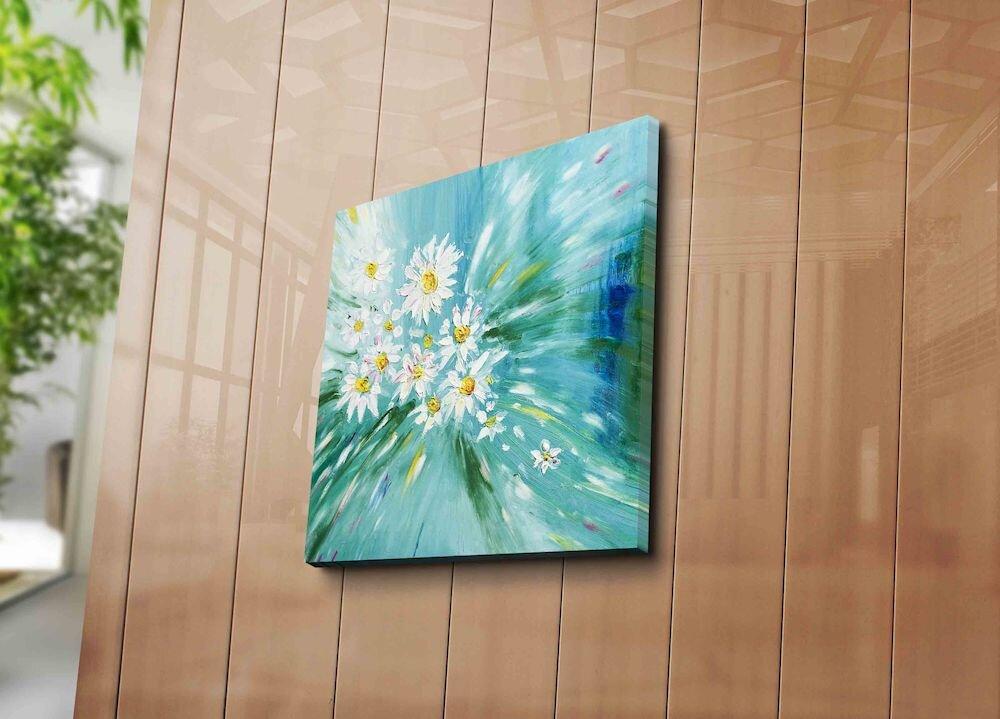 Tablou decorativ pe panza Horizon, 237HRZ1235, 45 x 45 cm, panza