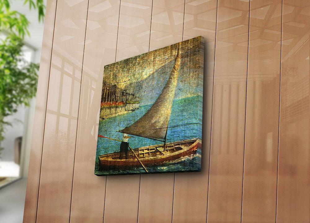 Tablou decorativ pe panza Horizon, 237HRZ1247, 45 x 45 cm, panza