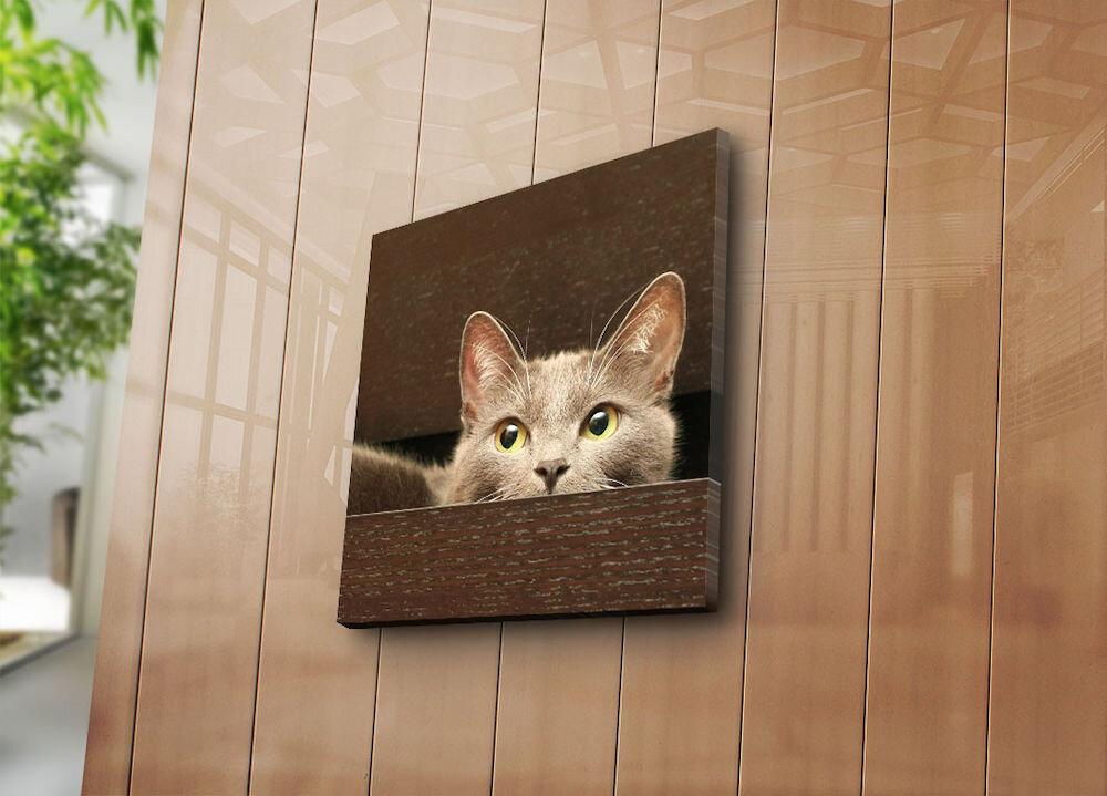Tablou decorativ pe panza Sightly, 252SGH1210, 45 x 45 cm, panza