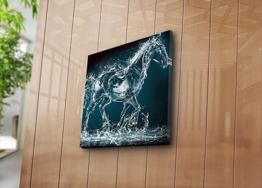 Tablou decorativ pe panza Sightly, 252SGH1201, 45 x 45 cm, panza
