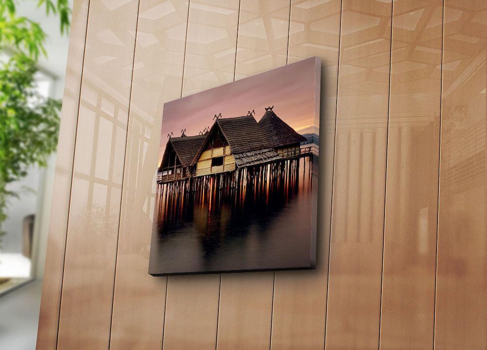 Tablou decorativ pe panza Sightly, 252SGH1219, 45 x 45 cm, panza