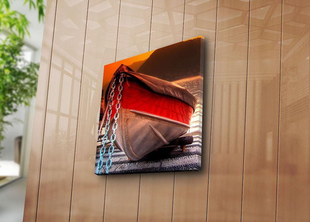 Tablou decorativ pe panza Sightly, 252SGH1220, 45 x 45 cm, panza