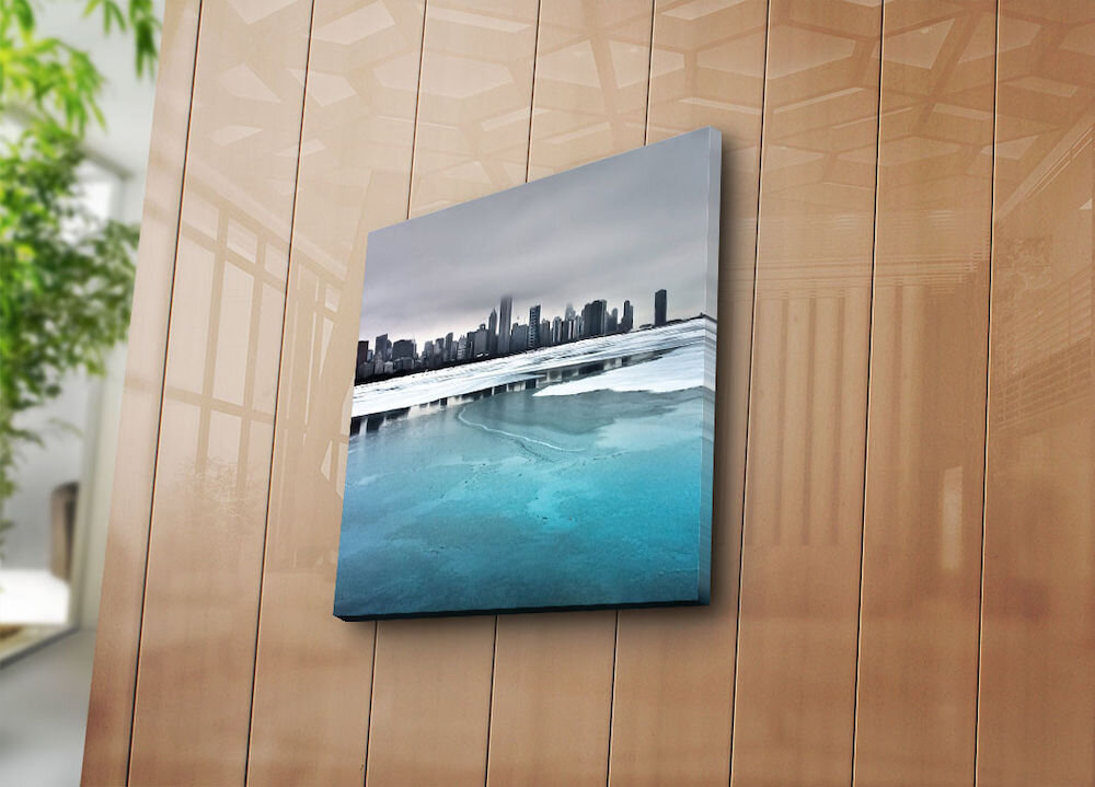 Tablou decorativ pe panza Sightly, 252SGH1226, 45 x 45 cm, panza