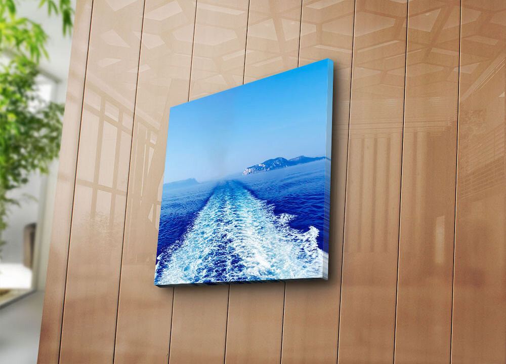 Tablou decorativ pe panza Sightly, 252SGH1235, 45 x 45 cm, panza