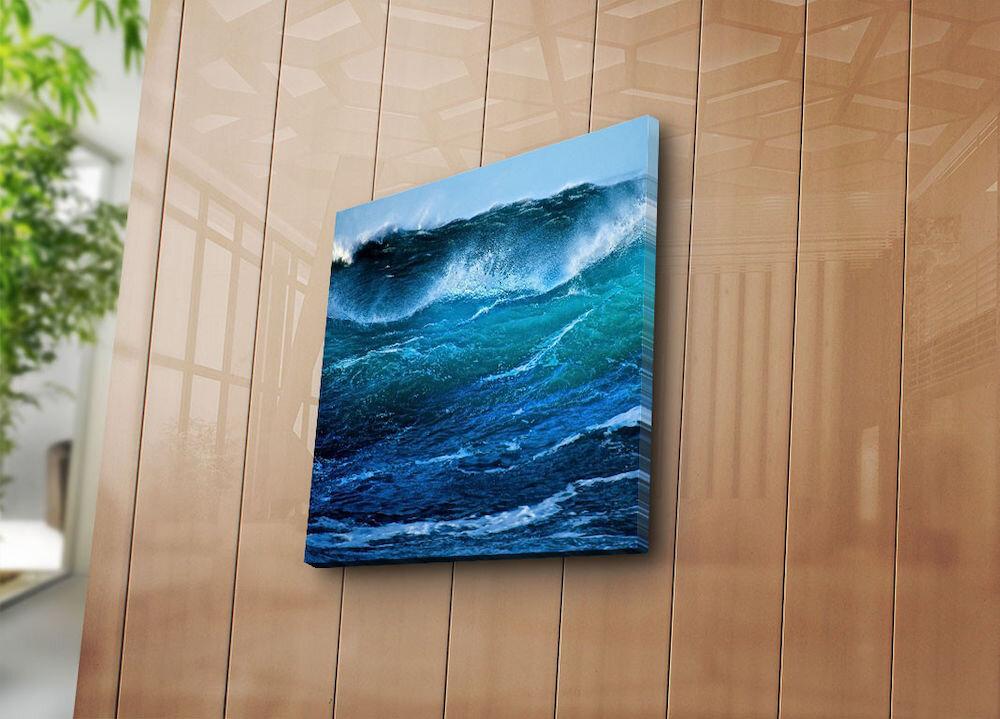 Tablou decorativ pe panza Sightly, 252SGH1236, 45 x 45 cm, panza