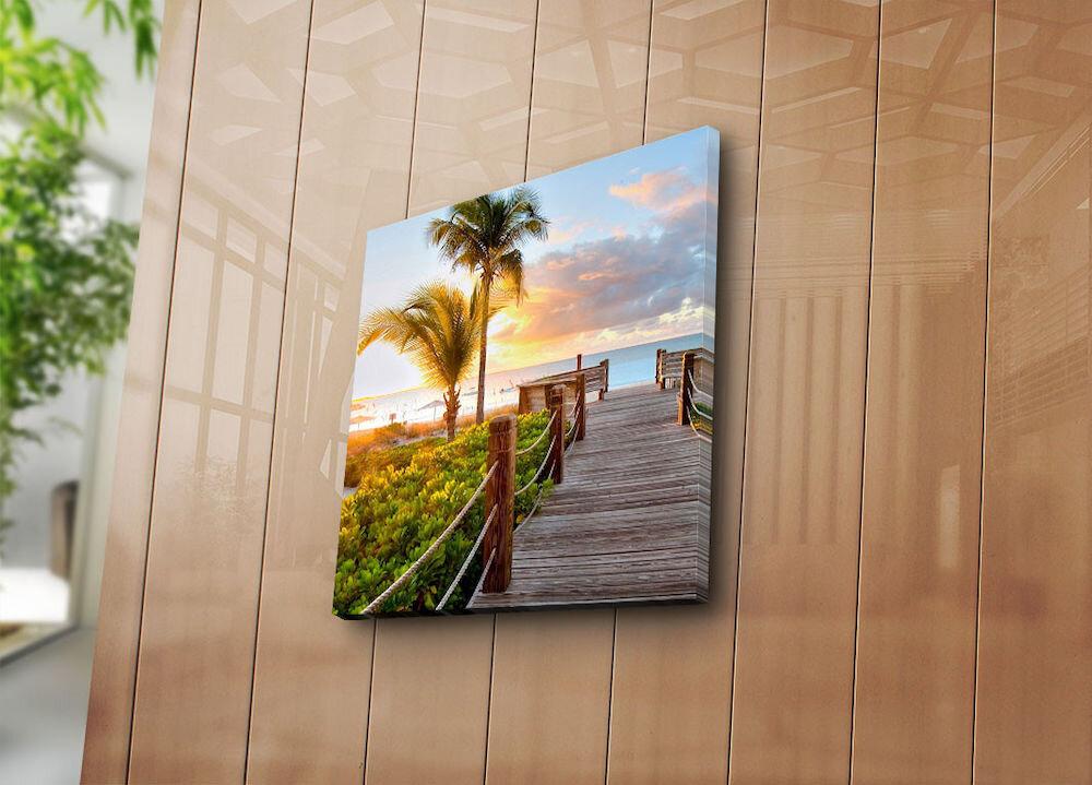 Tablou decorativ pe panza Sightly, 252SGH1238, 45 x 45 cm, panza