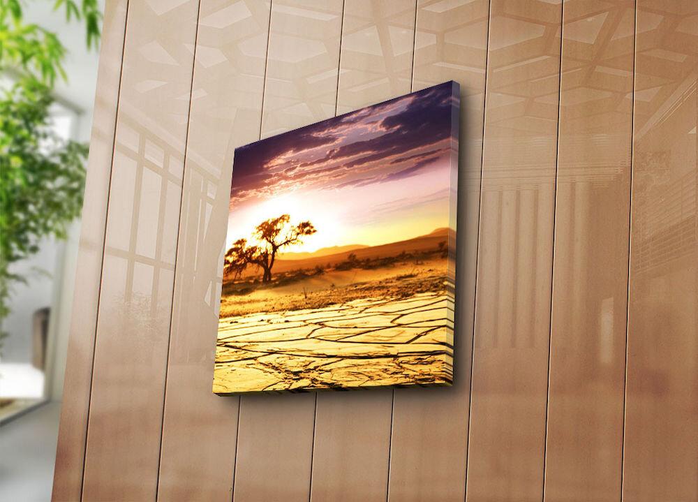 Tablou decorativ pe panza Sightly, 252SGH1204, 45 x 45 cm, panza