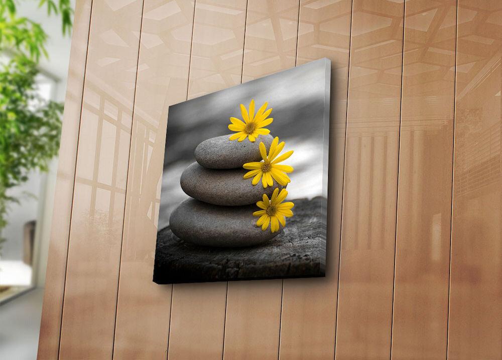 Tablou decorativ pe panza Sightly, 252SGH1249, 45 x 45 cm, panza