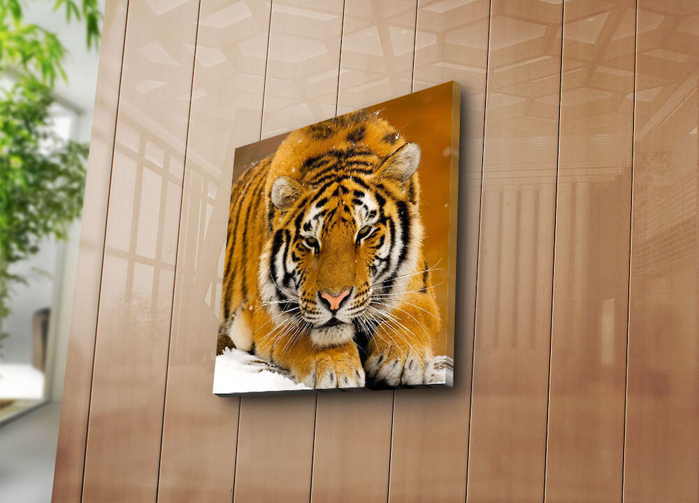 Tablou decorativ pe panza Sightly, 252SGH1206, 45 x 45 cm, panza