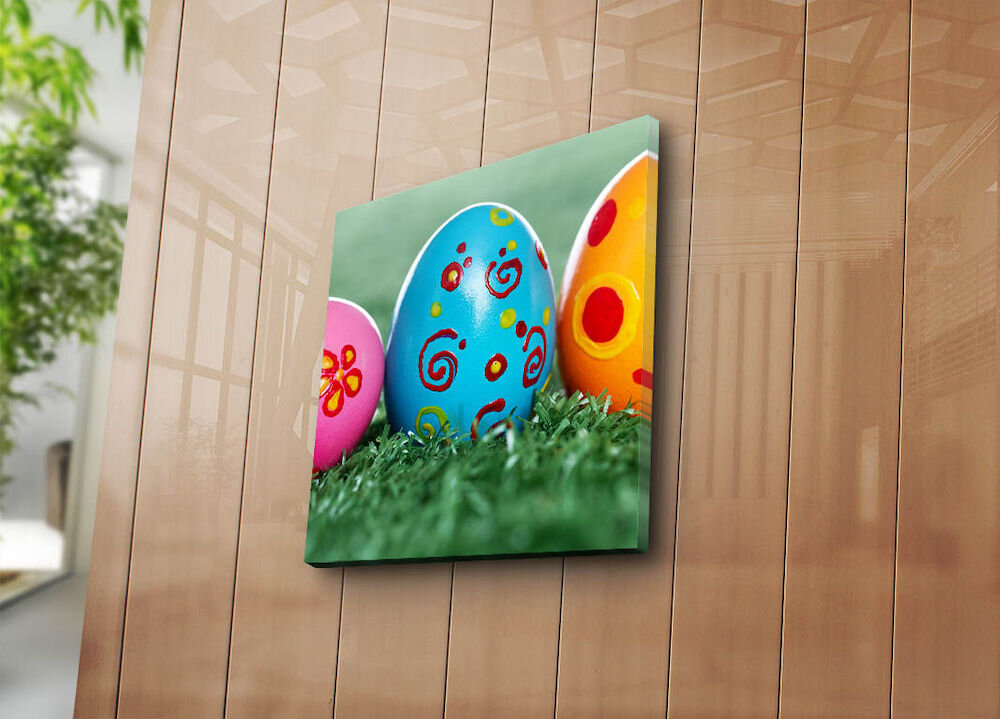 Tablou decorativ pe panza Sightly, 252SGH1355, 45 x 45 cm, panza