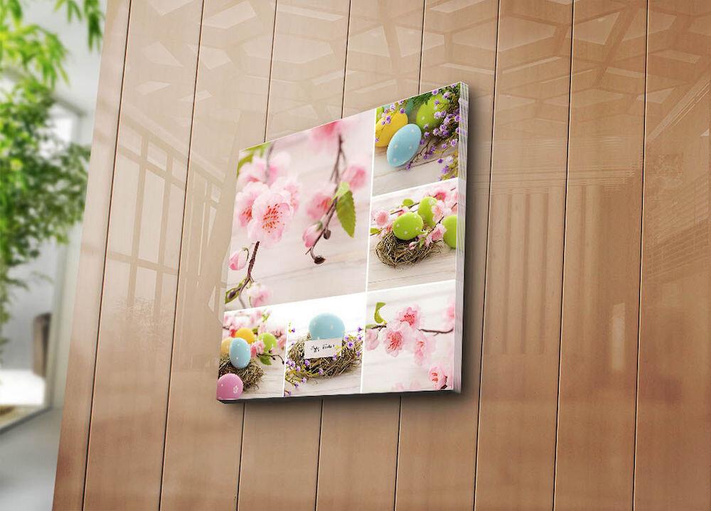 Tablou decorativ pe panza Sightly, 252SGH1362, 45 x 45 cm, panza