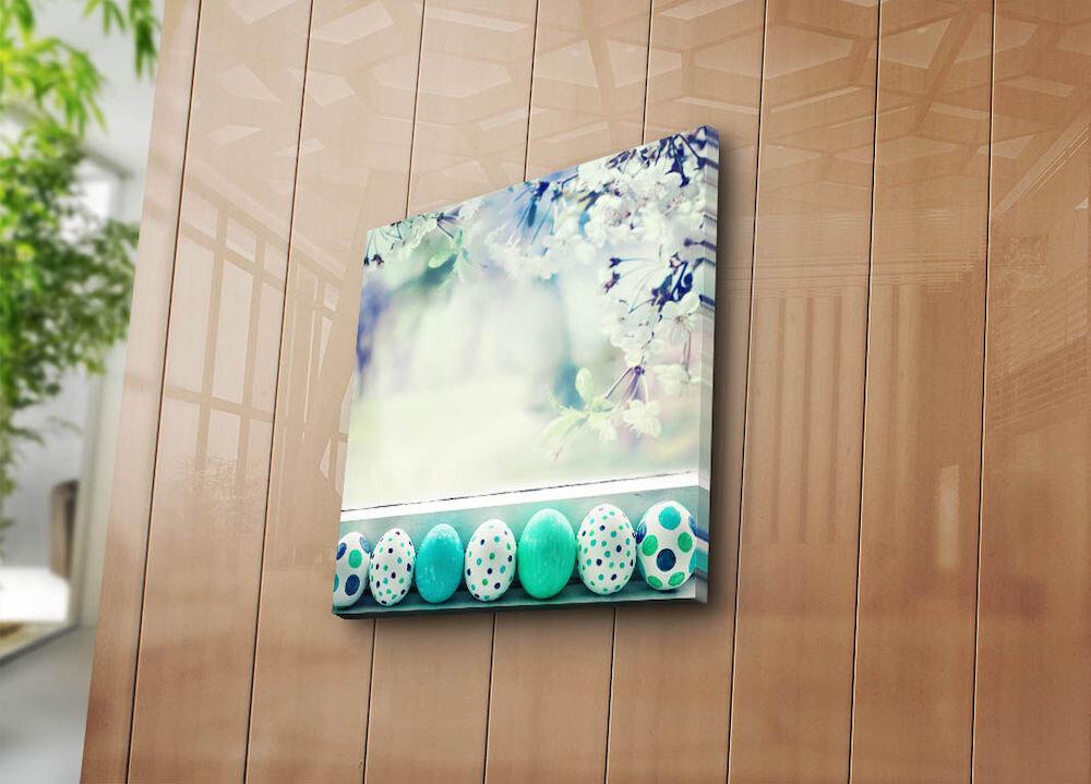 Tablou decorativ pe panza Sightly, 252SGH1368, 45 x 45 cm, panza