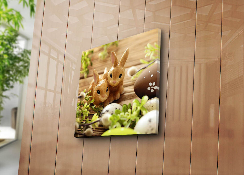 Tablou decorativ pe panza Sightly, 252SGH1370, 45 x 45 cm, panza