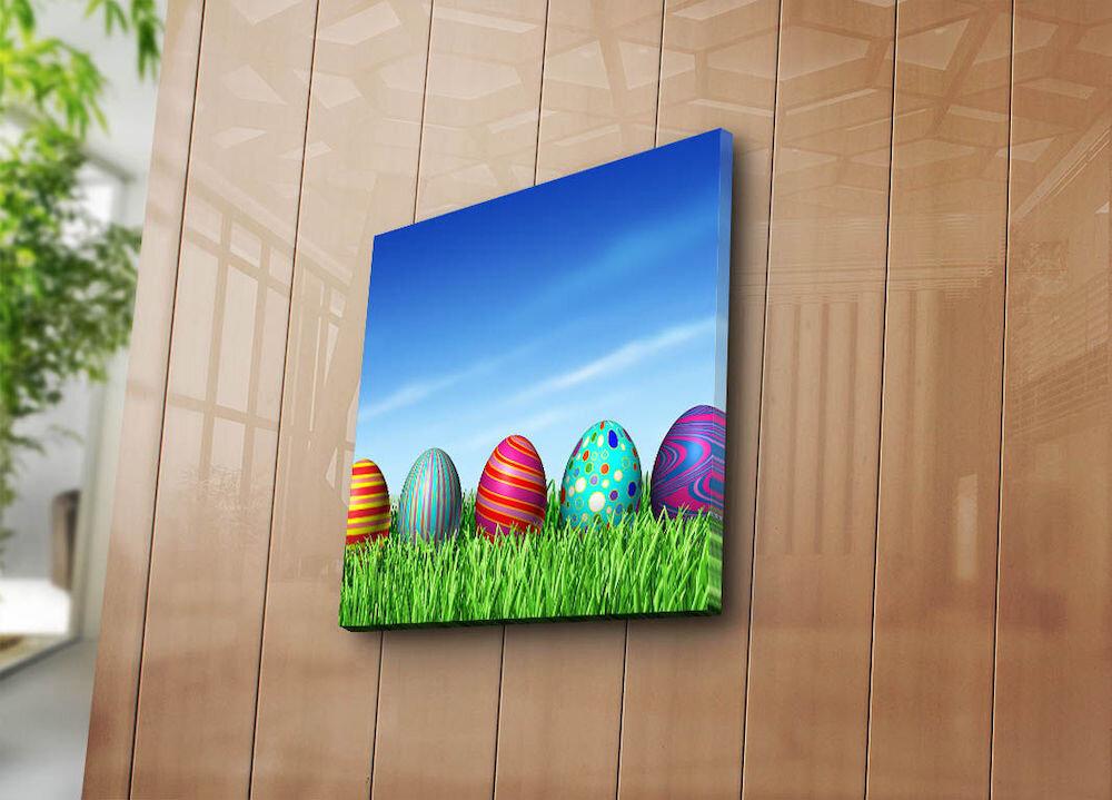 Tablou decorativ pe panza Sightly, 252SGH1373, 45 x 45 cm, panza