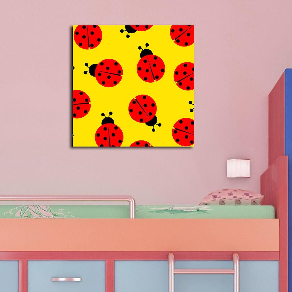 Tablou decorativ pe panza Taffy, 241TFY1201, 45 x 45 cm, panza