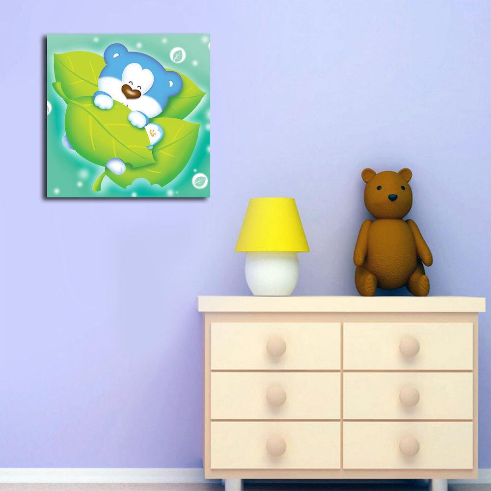 Tablou decorativ pe panza Taffy, 241TFY1213, 45 x 45 cm, panza
