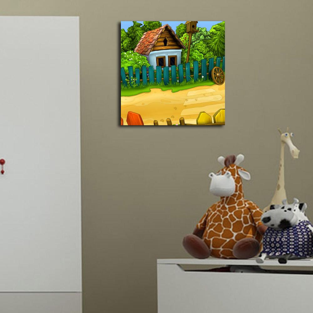 Tablou decorativ pe panza Taffy, 241TFY1214, 45 x 45 cm, panza