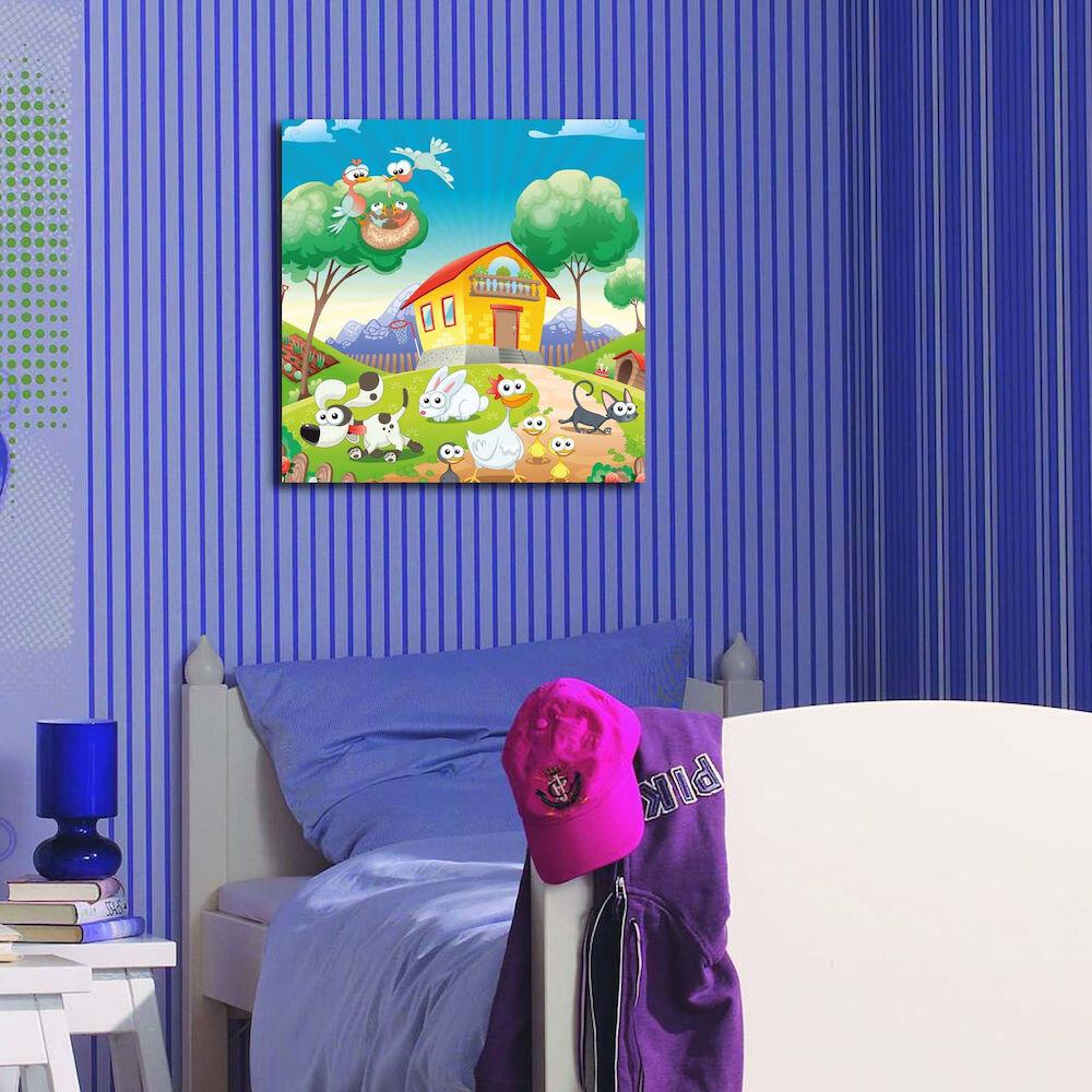 Tablou decorativ pe panza Taffy, 241TFY1202, 45 x 45 cm, panza