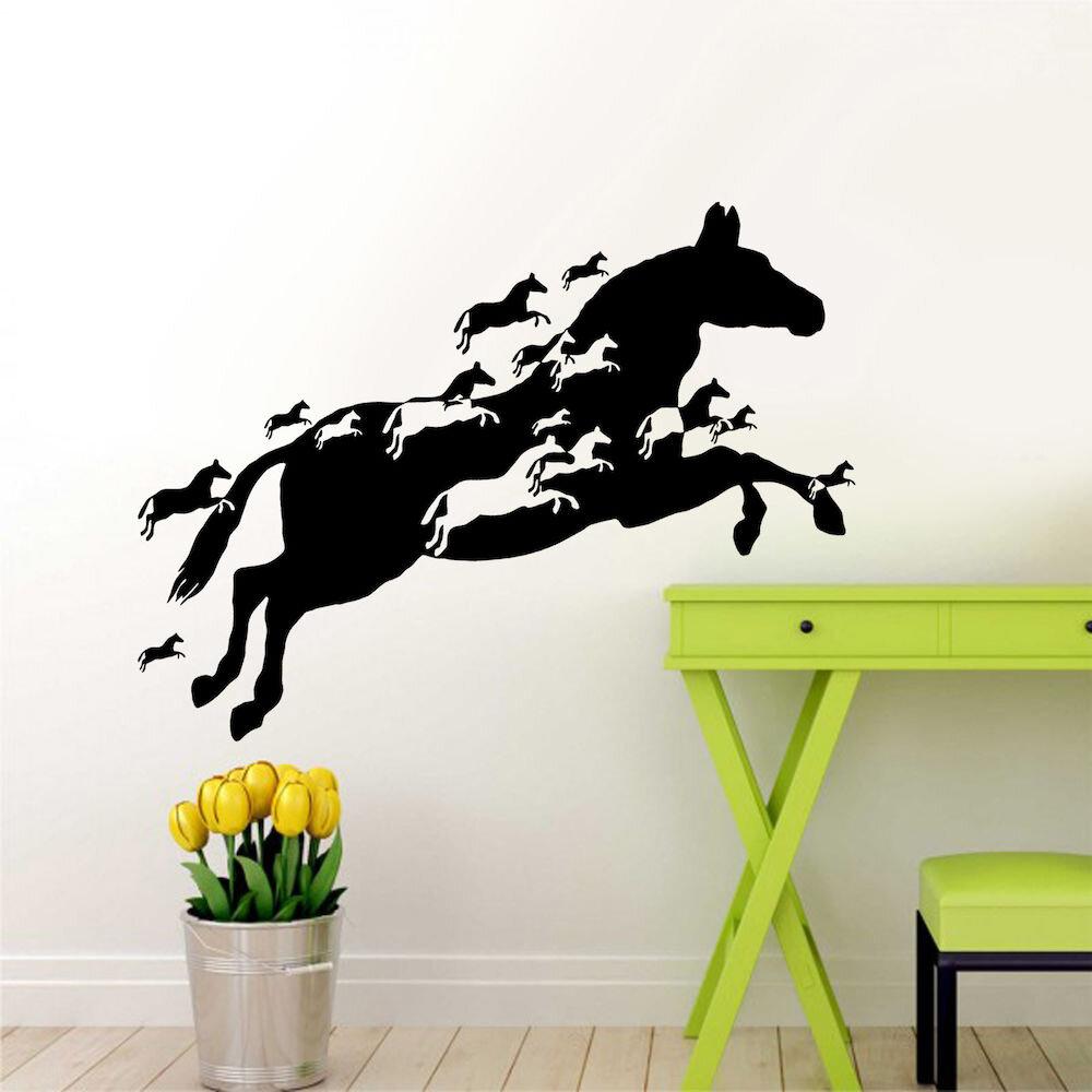 Sticker decorativ de perete Pushy, 246PHY1006, 90 x 52 cm