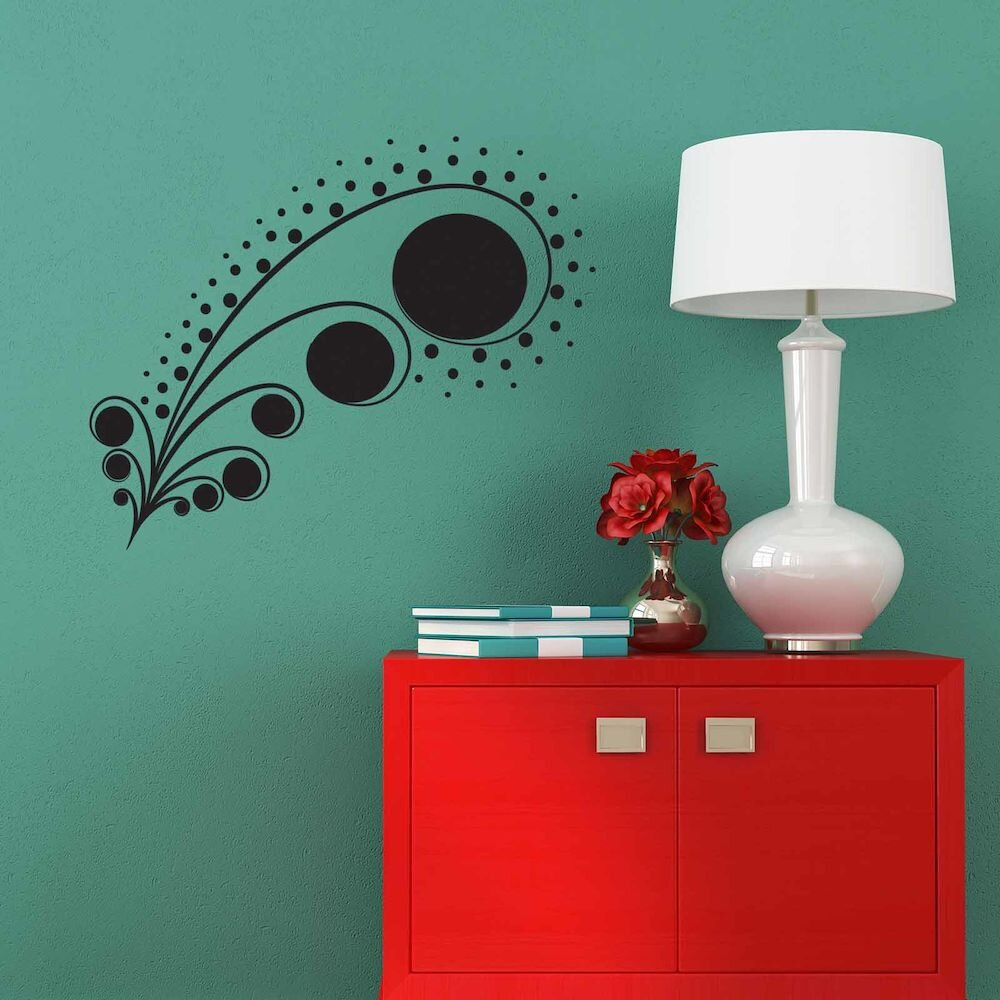 Sticker decorativ de perete Sticky, 260CKY5014, 75 x 60 cm