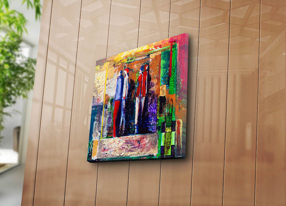 Tablou decorativ pe panza Canvart, 249CVT1213, 45 x 45 cm, panza