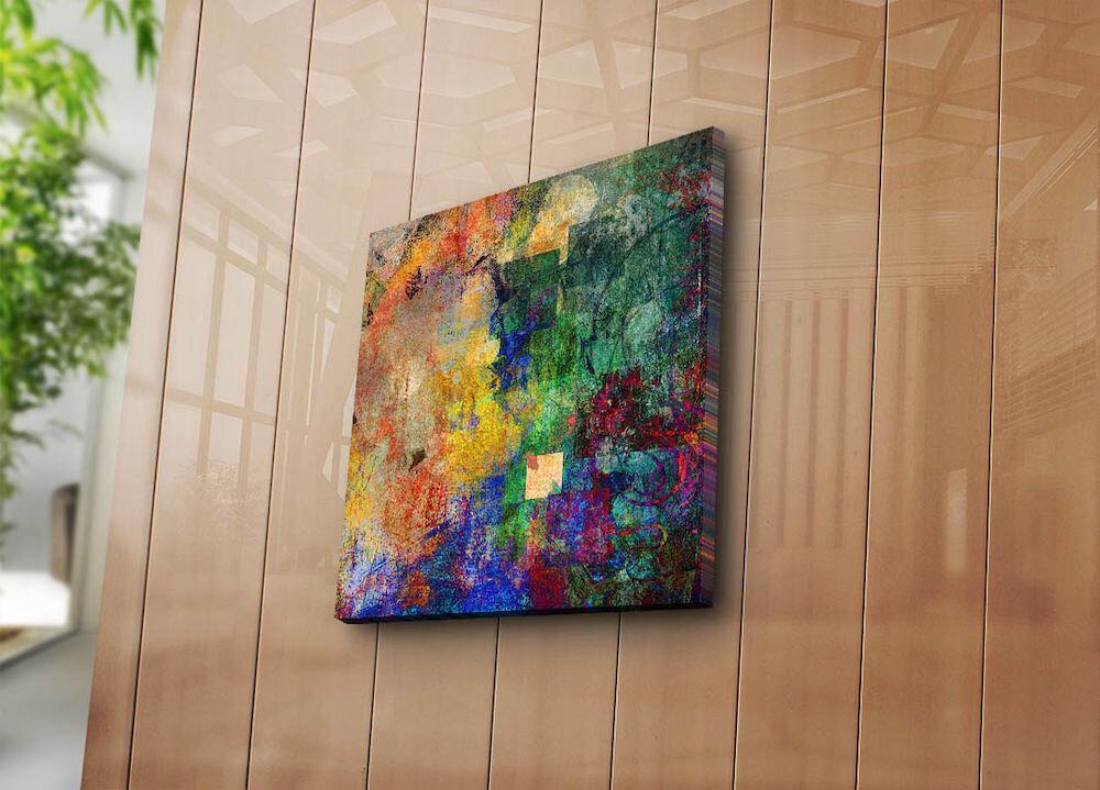 Tablou decorativ pe panza Canvart, 249CVT1201, 45 x 45 cm, panza