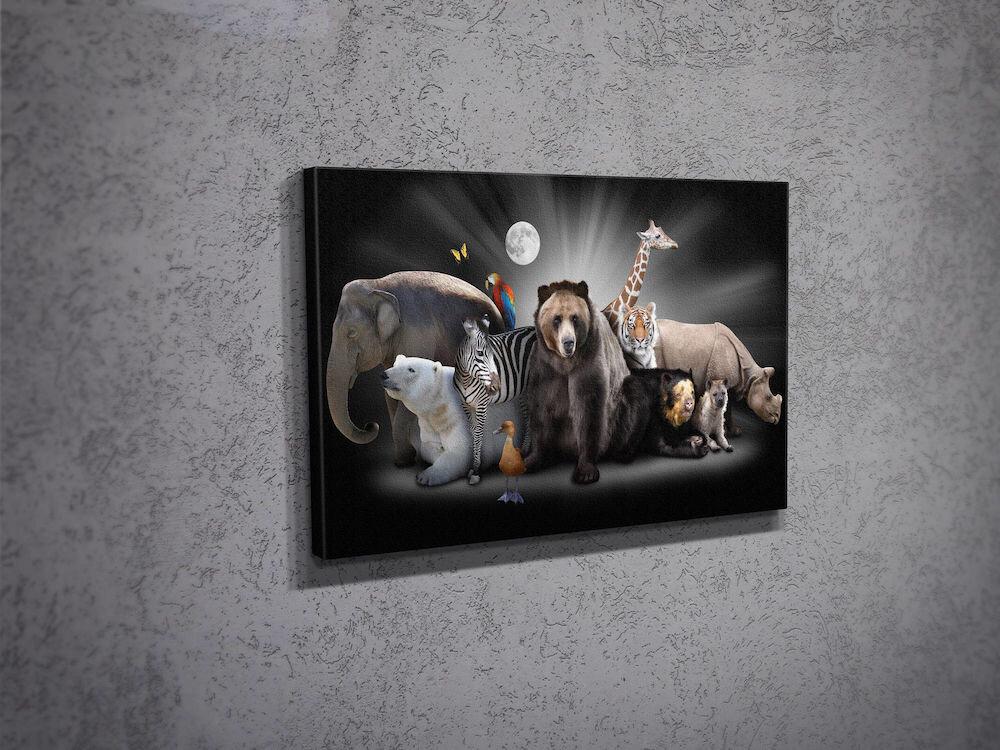 Tablou decorativ pe panza Majestic, 257MJS1222, 30 x 40 cm, panza