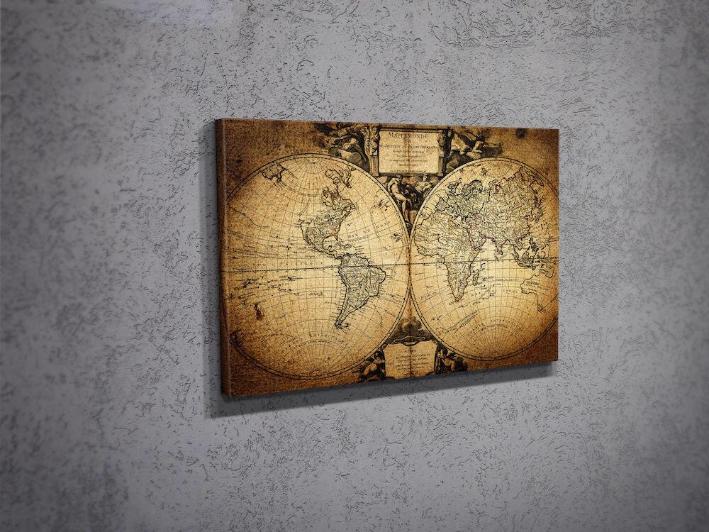 Tablou decorativ pe panza Majestic, 257MJS1228, 30 x 40 cm, panza