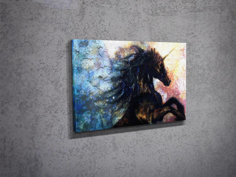 Tablou decorativ pe panza Majestic, 257MJS1243, 30 x 40 cm, panza