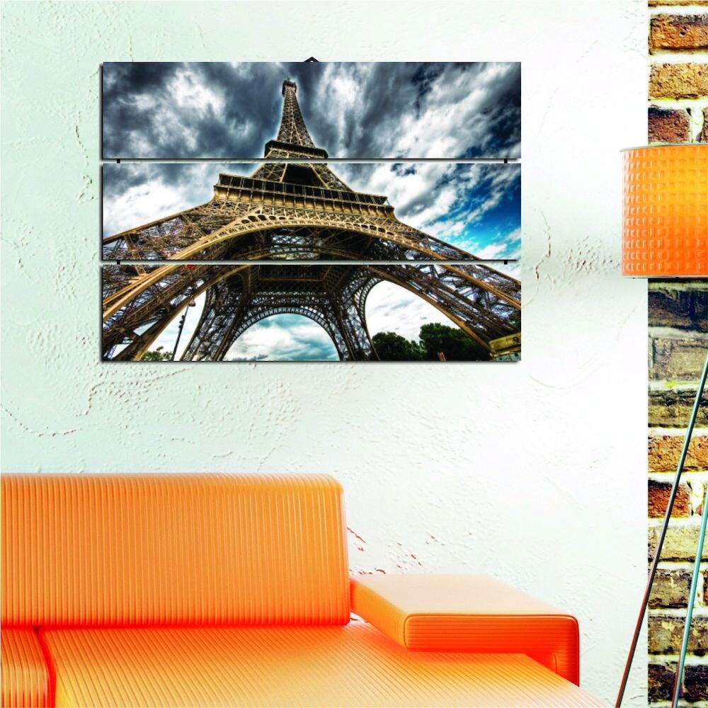 Tablou decorativ multicanvas Allure, 221ALL1990, 3 Piese, MDF (Grosime: 4mm)