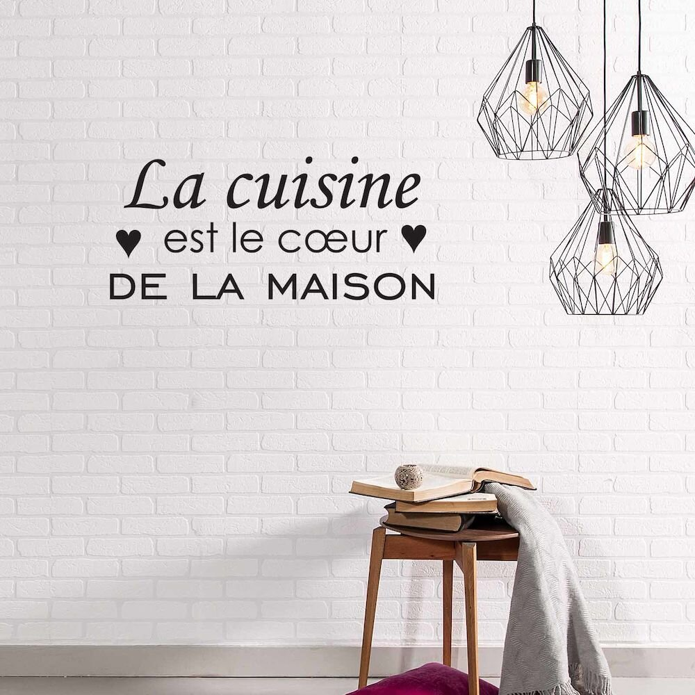 Sticker decorativ de perete French Wall, 753FRE1004, 65 x 28 cm