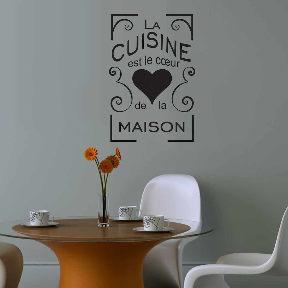 Sticker decorativ de perete French Wall, 753FRE1010, 44 x 65 cm
