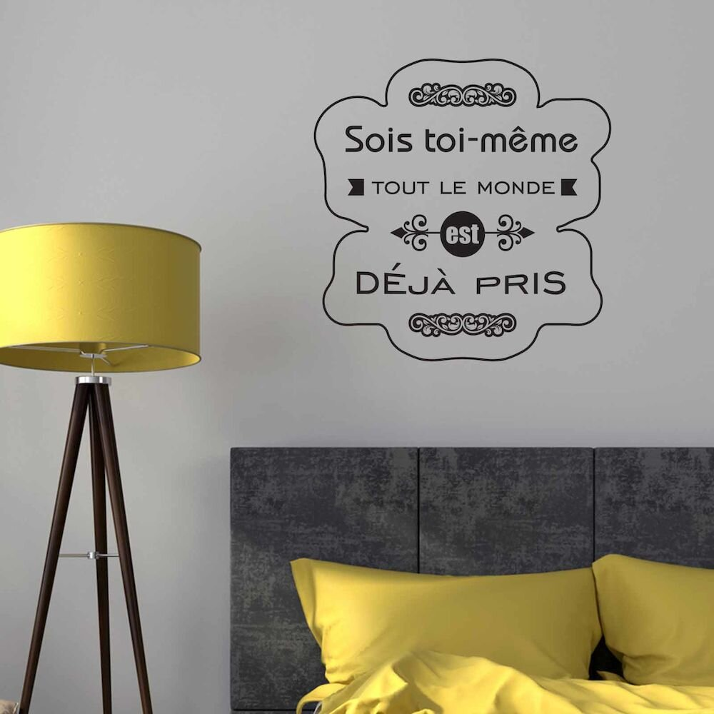 Sticker decorativ de perete French Wall, 753FRE1011, 61 x 62 cm