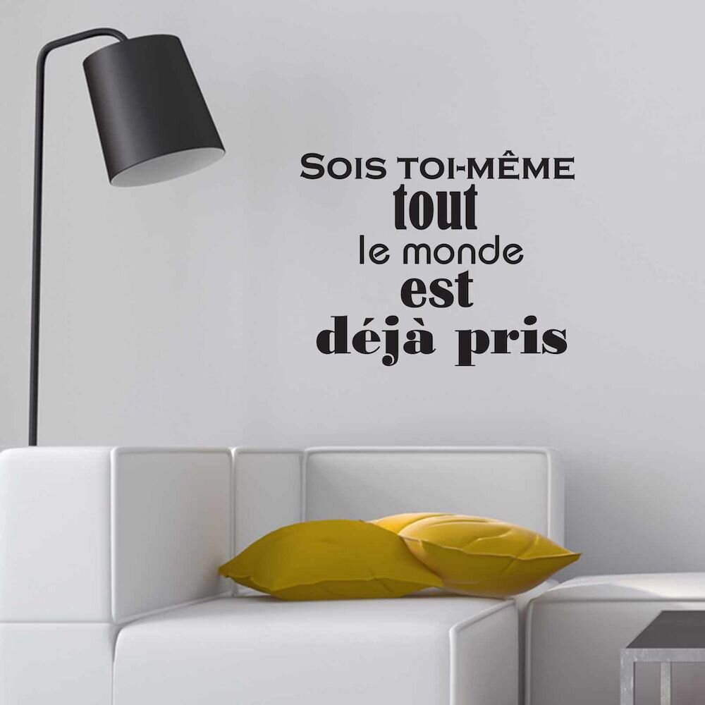 Sticker decorativ de perete French Wall, 753FRE1012, 65 x 51 cm